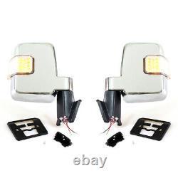 FIT TOYOTA LANDCRUISER 60 70Series FJ60 HJ60 FJ62 75 80-96 CHROME MIRROR LED L/R