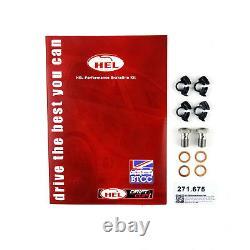 FULL KIT HEL Brake Lines Hoses For Toyota Land Cruiser 90 Series 3.0 D-4D 2000