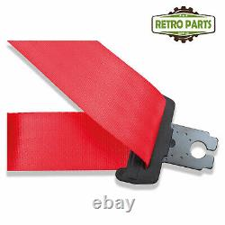 Front Automatic Seat Belt For Toyota Landcruiser Ranger 80 Series 1990 Shape Red