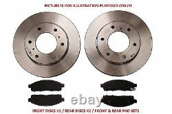 Front+Rear Brake Discs/Pads Set For Toyota Landcruiser 120 Series 9/02-12/09