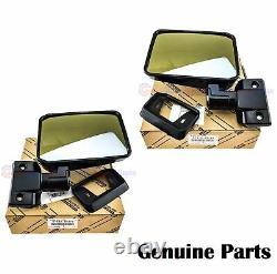 GENUINE Toyota Landcruiser 70 76 series Right RH Left LH Door Manual Mirror Set