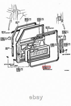 Genuine LandCruiser 40 Series FJ Van Soft Top Front Right RH Door Weatherstrip