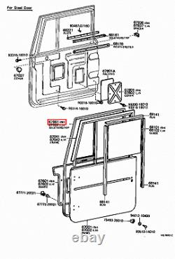 Genuine LandCruiser 45 40 47 Series HJ FJ BJ Front Right RH Door Weatherstrip