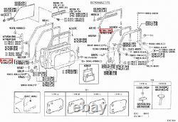 Genuine LandCruiser 70 Series HZJ FZJ Soft Top Front Right RH Door Rubber Seal