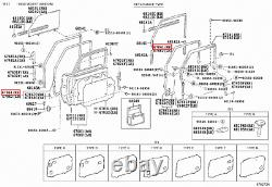 Genuine LandCruiser 70 Series PZJ FJ BJ Soft Top Front Right RH Door Rubber Seal