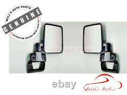 Genuine Landcruiser 70 76 Series Right Rh Left Lh Door Manual Mirror Set Pq