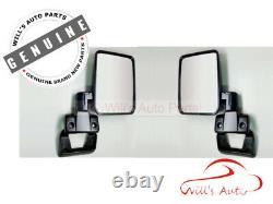Genuine Landcruiser 78 79 Series Right Rh Left Lh Door Manual Mirror Set Pq
