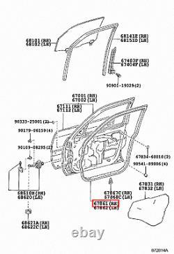 Genuine Toyota LandCruiser 100 Series UZJ HDJ Front Right RH Door Rubber Seal