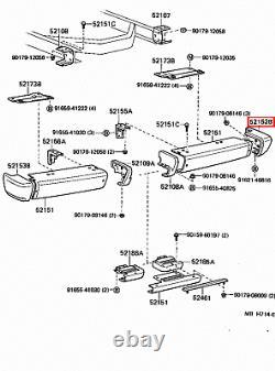 Genuine Toyota LandCruiser 60 Series HJ FJ BJ Rear Bumper Cover Right RH