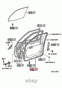 Genuine Toyota LandCruiser 80 Series HDJ FZJ FJ Front Right RH Door Rubber Seal