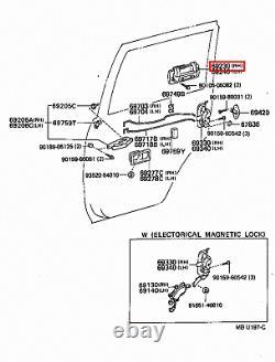 Genuine Toyota LandCruiser 80 Series HDJ FZJ FJ Outer Rear Right RH Door Handle