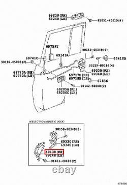 Genuine Toyota LandCruiser 80 Series HZJ HDJ Rear Right Door Lock Actuator Motor