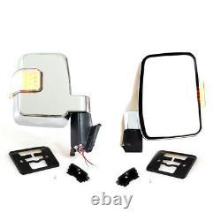 LR LED Chrome Door Mirror 80-2008 Fit Toyota Land Cruiser 60 70 75 Series FJ HJ