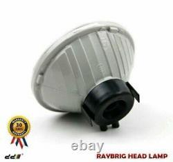 NEW Set RAYBRIG Blue Round Headlight Lamp For Land Cruiser 20 40 60 70 Series