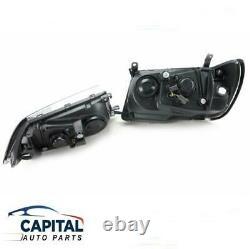Pair of Black Performance Headlights Left & Right Toyota LandCruiser 100 series