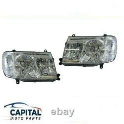Pair of Chrome Headlights Left & Right Toyota LandCruiser J100 series 2005-2007