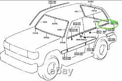 Toyota Land Cruiser 80 Series Lexus LX450 Quarter Door Belt Moulding LH RH