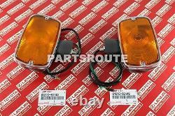 Toyota Land Cruiser FJ40 40Series OEM Front Turn Signal Lights Lamps 81510-60140