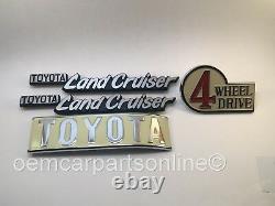 Toyota Land Cruiser FJ40 BJ40 40 Series Emblem Plate SET 1969-1986 OEM Genuine