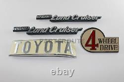 Toyota Land Cruiser FJ40 BJ40 40 Series OEM Genuine Emblem Plate SET 1969-1986