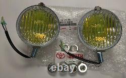 Toyota Land Cruiser FJ40 Series OEM Yellow Fog Lights Pair 81210-60010 US SELLER