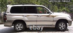 Toyota land cruiser 100 series body decal sticker full set